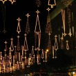 Christmas lights in Barcelona street — Stock Photo