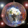 Disco ball with sparkles isolated in black — Stock Photo #6421473