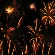 Colorful and vibrant fireworks - Stock Photo