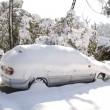 Stock Photo: Snow covered car