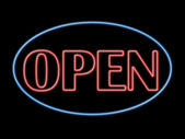 Open neon sign — Stock Photo