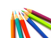 Various colorful pencils in a close up — Foto Stock