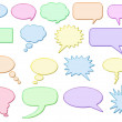 Glossy speech bubbles — Stock Photo #6671784