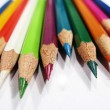 Stock Photo: Various colorful pencils in close up