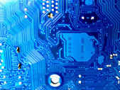 Abstract motherboard card background. New technologies — Stock Photo