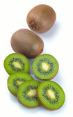 Ripe kiwi and segment — Stock Photo