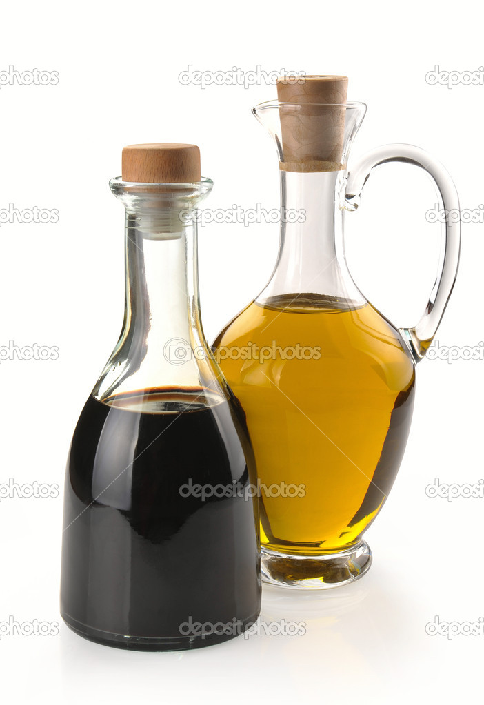 Balsamic vinegar and olive oil in a glass  Stock Photo #6145237