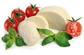 Mozzarella cherry tomatoes — Stock Photo