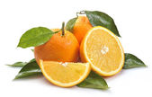 Orange with segments — Stock Photo