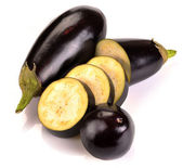 Aubergine and slices — Stock Photo