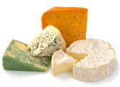 Set of cheese with mold and camemberе — Stock Photo