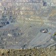 Panorama open-cast mine of iron ore — Stock Photo