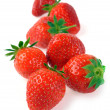 Stock Photo: Handful of ripe strawberries