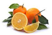 Orange with segment — Stock Photo