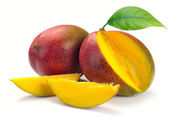Mango with section — Stock Photo