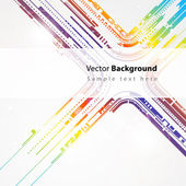 Abstract technology vector line background — Stock Vector
