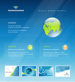 Business web site design elements template in vector — Vettoriale Stock