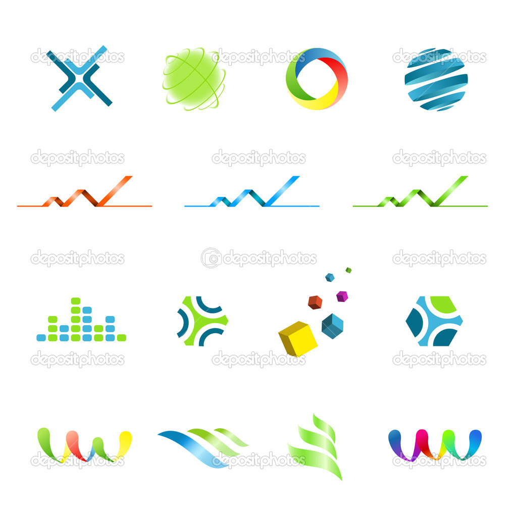 logo design elements set � stock vector 169 cozm 6145561
