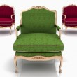 Classical stylish armchairs isolated — Stock Photo #6319690
