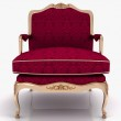 Classical stylish armchair isolated — Stock Photo #6320338