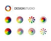 Design logo elements on white background — Stock Vector