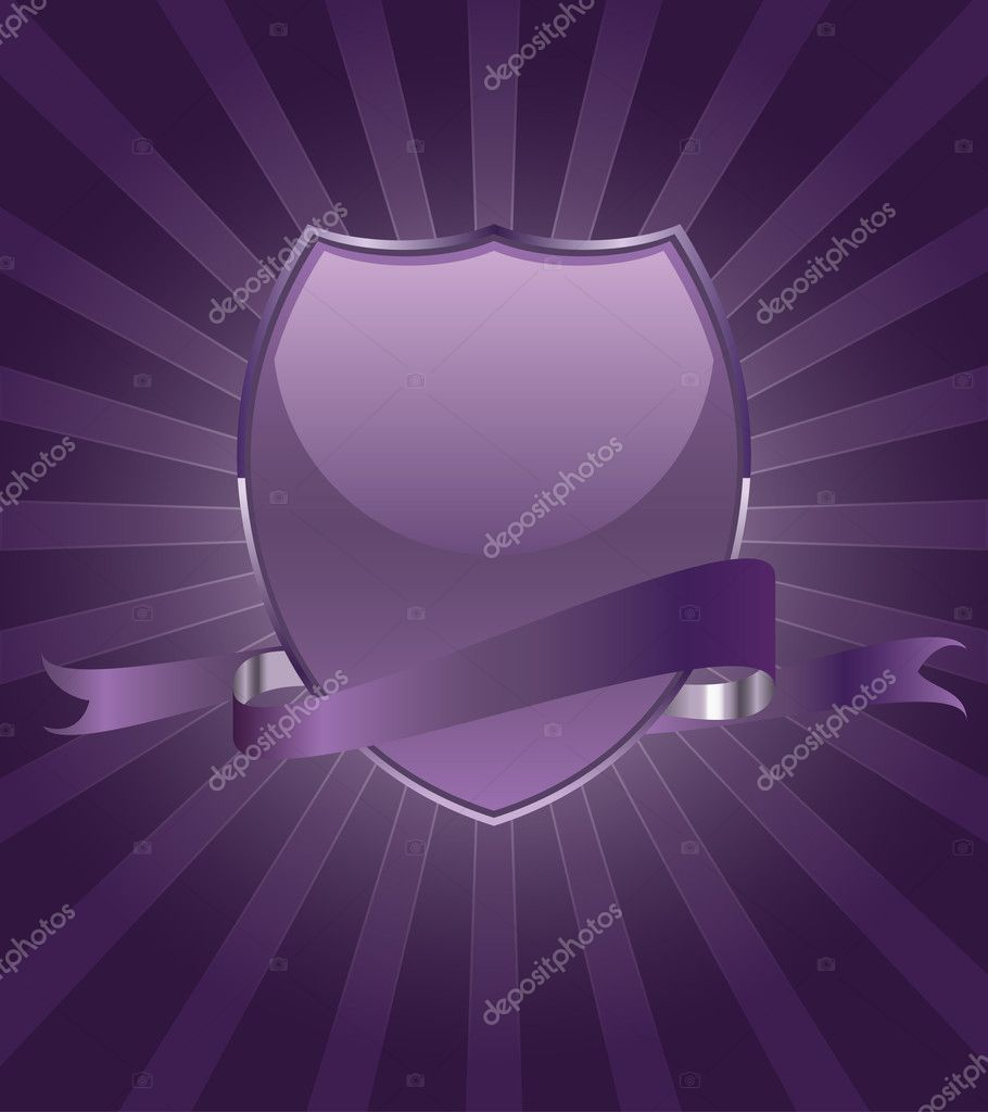 Beautiful brightly party shield emblem vector  — Stock Vector #6365013