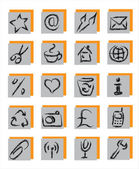 20 gray icons — Stock Vector