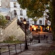 Paris streets by night - Montmartre — Stock Photo