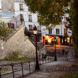 Paris streets by night - Montmartre - Stock Photo
