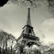 Stock Photo: Old time eiffel tower view