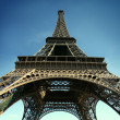Eiffel tower with wide angle view HD pict - Stock Photo