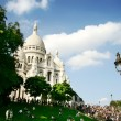 The Sacre-Coeur church in Montmartre, Paris - Stock Photo
