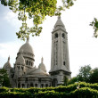 Sacre Coeur, Paris, France - vue from the parc - 图库照片