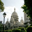 Sacre Coeur, Paris, France - vue from parc - Stock Photo