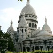 Sacre Coeur, Paris, France - vue from the parc - Stock Photo
