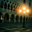 Mysterious plazza in the evening in Venice - Stock Photo