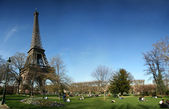 Eiffel tower with panoramic HD view — Stock Photo