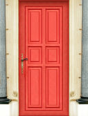 Magic red door - ENTIRE DOOR - Very High definition — Stock Photo