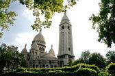 Sacre Coeur, Paris, France - vue from the parc — Stock Photo
