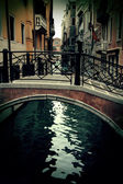 Old tiny bridge in venice, italy — Stock Photo