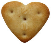 Heart-shaped-cookie — Stock Photo