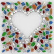 Heart of Diamonds — Stock Photo