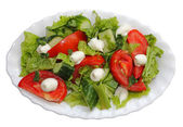 Salad,lettuce tomato cucumber — Stock Photo