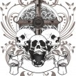 Skull cross - Stock Vector