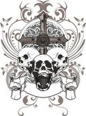 Skull cross — Stock Vector
