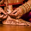 Hindu Indian wedding ceremony in a temple — Stock Photo #6136606