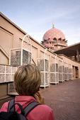 在普特拉贾亚、 雪兰莪、 马来西亚普特拉清真寺 — 图库照片