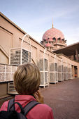 Putra mesquita em putrajaya, selangor, malásia — Fotografia Stock