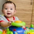 6 month old Asian baby girl smiling — Stock Photo #6362012