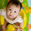 Stock Photo: Six month old South East AsiChinese baby girl